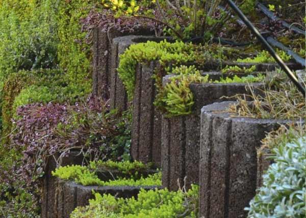 A LUNETTO a családi házak kertjének látványos eleme: sokszínű a bele ültetett növényzettel, alakjából adódóan bármilyen íves vagy kör alakú falazat kialakítható. Klasszikus felhasználási területe a növénytámfal, ahol a meredek lejtő talaját védjük meg vele a lecsúszástól. Készíthetünk vele növényszigetet, tetszőleges vonalvezetéssel, de alkalmas különböző magasságú kertek elválasztására, beültetésére.